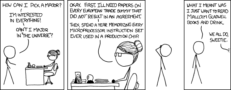 XKCD - Major in the Universe